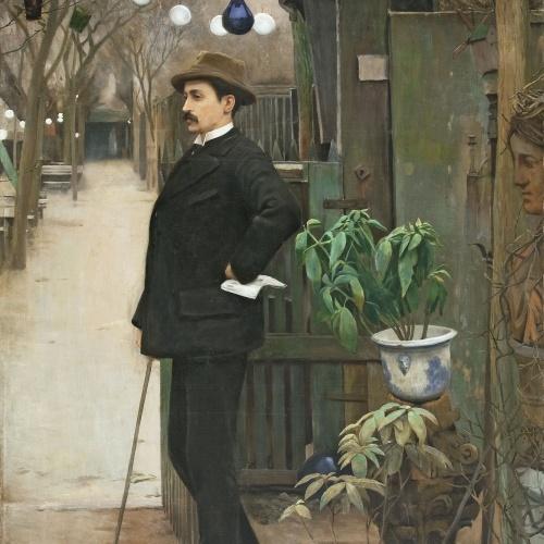 Santiago Rusiñol - Retrat de Miquel Utrillo - París, 1890-1891
