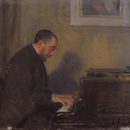 Ramon Casas - Retrat del pianista Carles G. Vidiella (1856-1915) - 1892