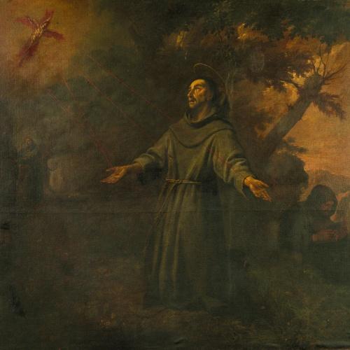 Antoni Viladomat - Sant Francesc rep els estigmes - Cap a 1729-1733