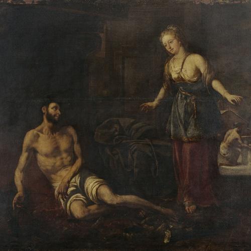 Antoni Viladomat - Temptació de sant Francesc - Cap a 1729-1733