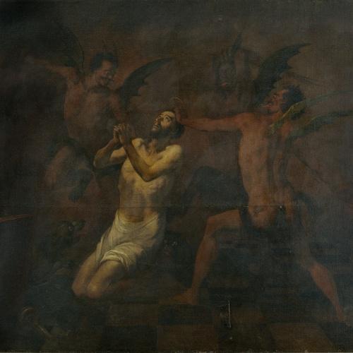 Antoni Viladomat - Sant Francesc torturat pels dimonis - Cap a 1729-1733