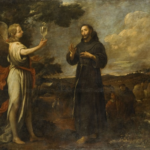 Antoni Viladomat - Apparition of an Angel to Saint Francis to Show Him the Purity of Priesthood - Circa 1729-1733