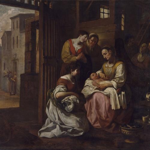 Antoni Viladomat - Naixement de sant Francesc - Cap a 1729-1733