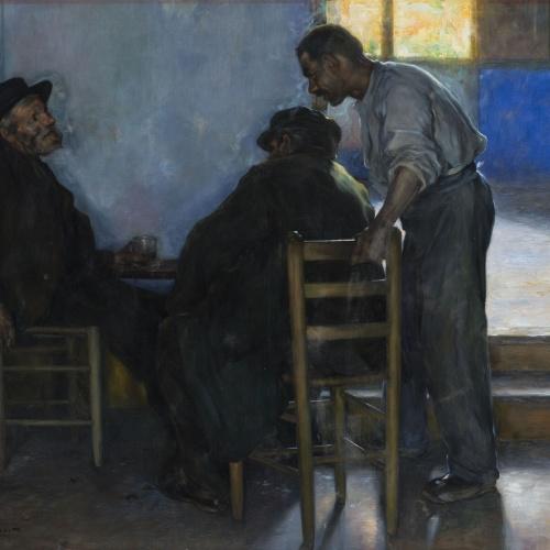 Lluís Graner - Interior de taverna - Cap a 1900-1928