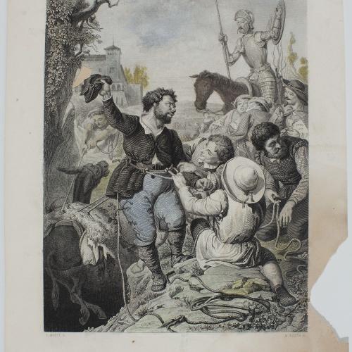 Àngel Fatjó - Il·lustració del Quixot - 1859