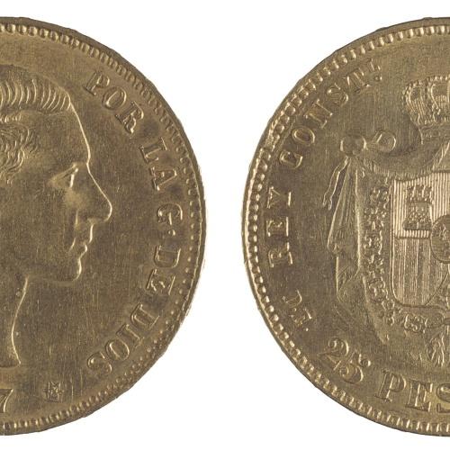 Alfons XII d'Espanya - 25 pessetes - 1877