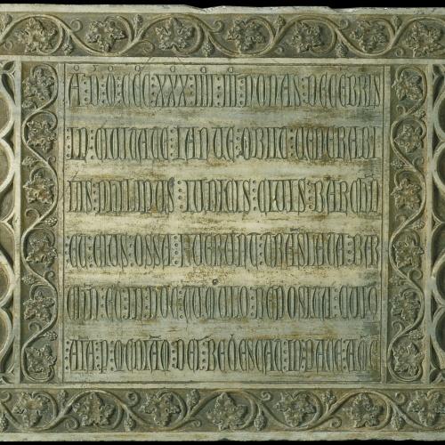 Anònim. Catalunya - Làpida sepulcral de Felipe Giudice (mort el 1334) - Segon quart del segle XIV