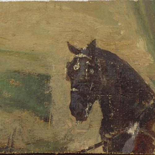 Marià Fortuny - Study of a Horse - 1863