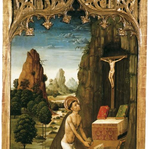 Mestre de la Seu d'Urgell - Sant Jeroni penitent - Cap a 1495