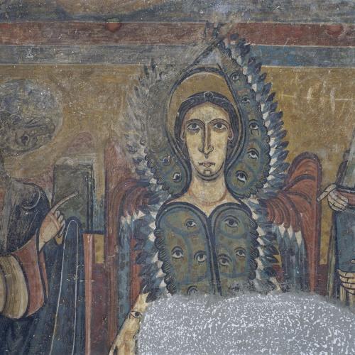 Mestre de Santa Maria de Taüll - Arc del Tetramorf amb serafí i arcàngel de Santa Maria de Taüll - Cap a 1123 [2]