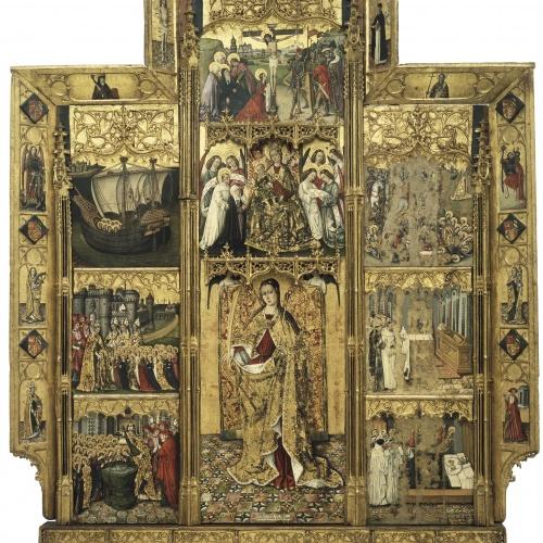 Joan Reixach - Retaule de santa Úrsula i les onze mil verges - 1468