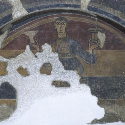 Mestre del Judici Final - Home amb dues copes de Santa Maria de Taüll - Després de 1123