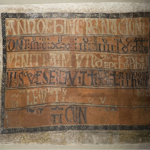 Mestre de Taüll - Inscripció de consagració de Sant Climent de Taüll - Cap a 1123