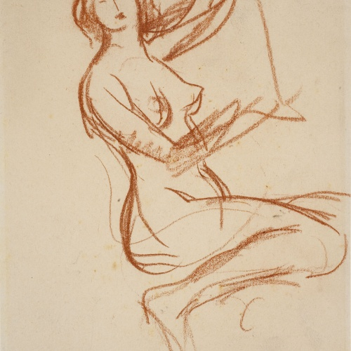 Ricard Canals - Female nude sketch - Circa 1920