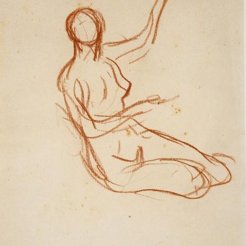 Ricard Canals - Female nude sketch - Circa 1920