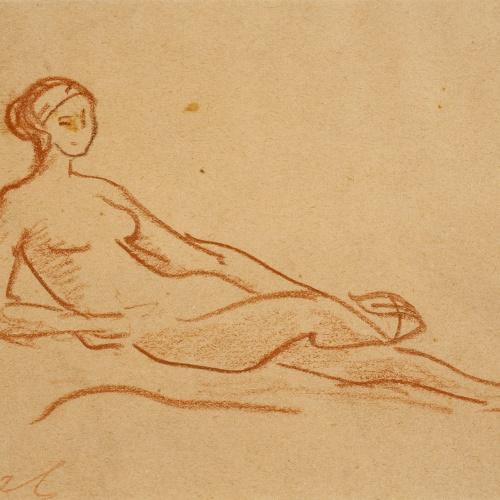 Ricard Canals - Apunt de nu femení - Cap a 1920