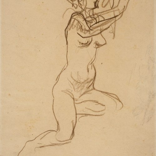 Ricard Canals - Female nude sketch - Circa 1900-1920