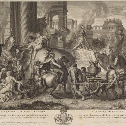 Jean Audran - Entrada d'Alexandre el Gran a Babilònia - 1703-1708