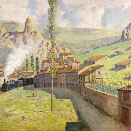 Darío de Regoyos - Pancorbo: el tren que passa - 1901