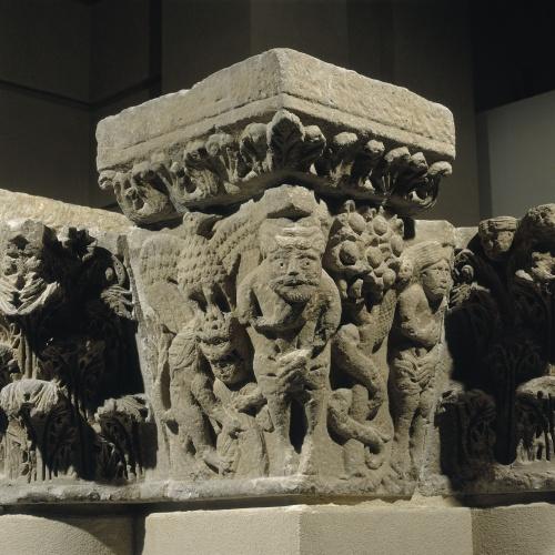 Anònim - Capitell i imposta del pilar de Camarasa - Últim quart del segle XII