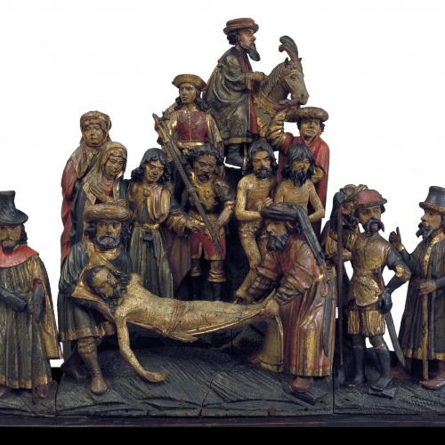 Anònim. Alemanya - Conjunt factici amb la Deposició de Crist i el Camí al Calvari - Cap a 1500