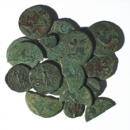 Diverses autoritats - Conjunt monetari d'Empúries d'època flàvia - Finals del segle I