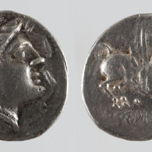 Anònim - Dracma ibèrica d'imitació - Finals del segle III aC