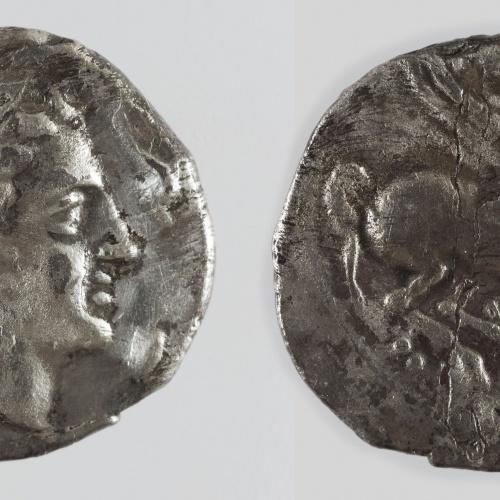 Anònim - Dracma ibèrica d'imitació d'Emporion - Finals del segle III aC