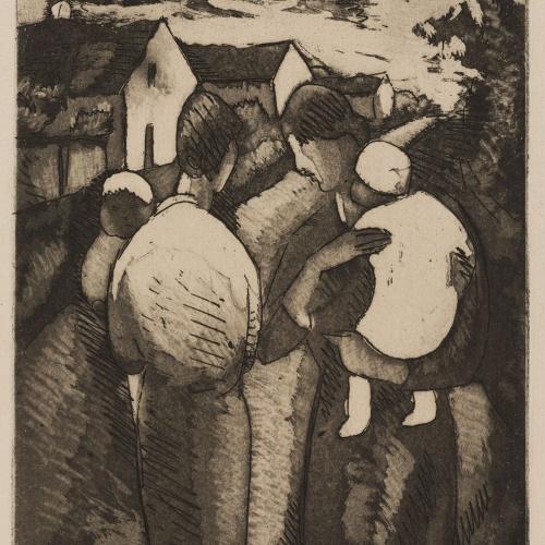 Juli González - Vilatanes amb els seus fills (Villageoises avec des enfants) - 1927