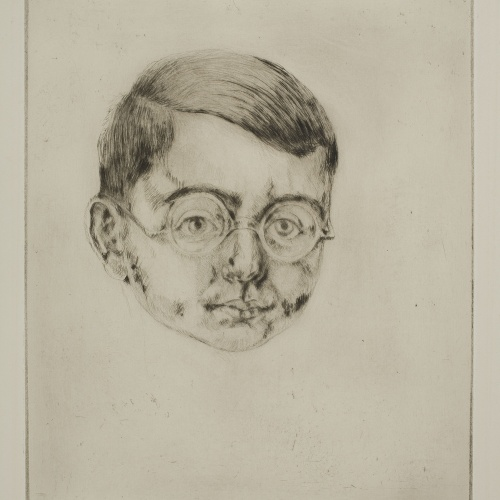 Ismael Smith - Head of a man with glasses - Circa 1924-1925