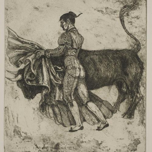 Ismael Smith - Suerte de capa. To play bulls - 1919