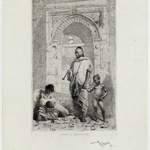 Marià Fortuny - Famille marocaine (Família marroquina) - 1861