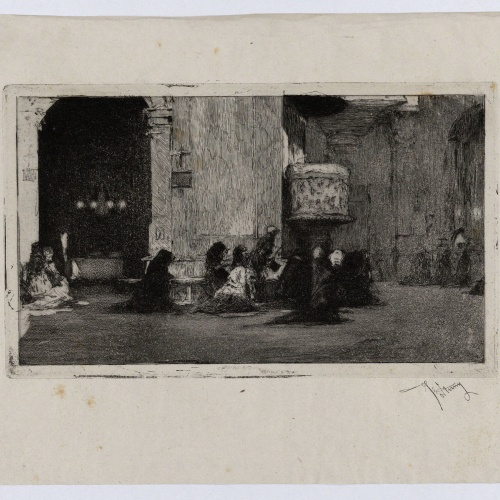 Marià Fortuny - Interior de l'església de Sant Josep - Cap a 1868