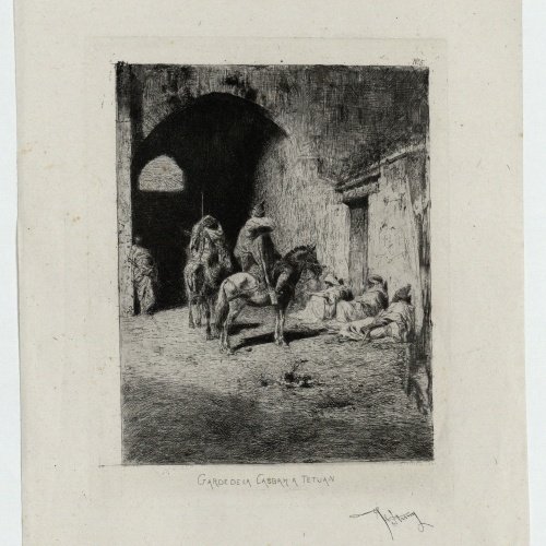 Marià Fortuny - Garde de la casbah a Tetuan (Guàrdia de la qasba a Tetuan) - Cap a 1861
