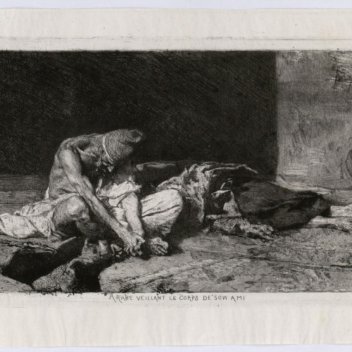 Marià Fortuny - Arabe veillant le corps de son ami (Arab watching over the body of his dead friend) - 1866