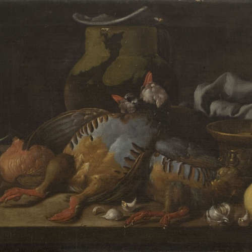 Luis Egidio Meléndez - Still Life with Partridges, Onions, Lemon and Kitchen Utensils - Circa 1773-1780