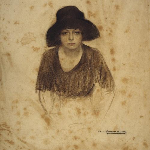 Ramon Casas - Female bust - Circa 1890-1900