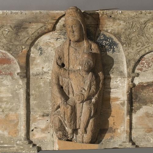 Anònim - Retaule amb imatge de la Mare de Déu - Primera meitat del segle XIII