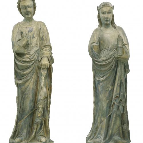 Mestre d'Anglesola - Mare de Déu i arcàngel Gabriel d'una Anunciació - Cap a 1330