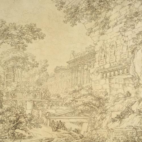 Ignazio Degotti - Paisatge amb ruïnes - Cap a 1800-1808
