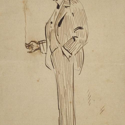 Ramon Casas - Mr. Deering fumant - Cap a 1909