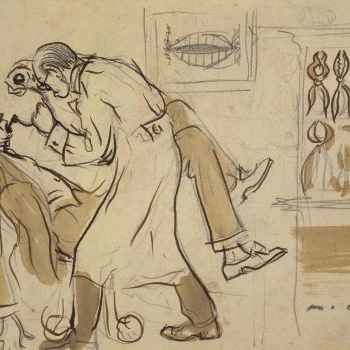 Ramon Casas - Mr. Deering at the dentist - Circa 1909