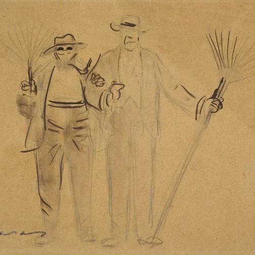 Ramon Casas - Self-portrait with Mr. Deering - Circa 1909