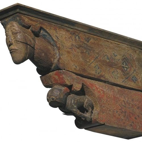 Anònim. Catalunya - Permòdol amb cap humà i animal - Primer quart del segle XIV