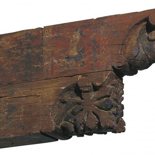 Anònim. Catalunya - Permòdol amb cap humà i motius vegetals  - Primer quart del segle XIV