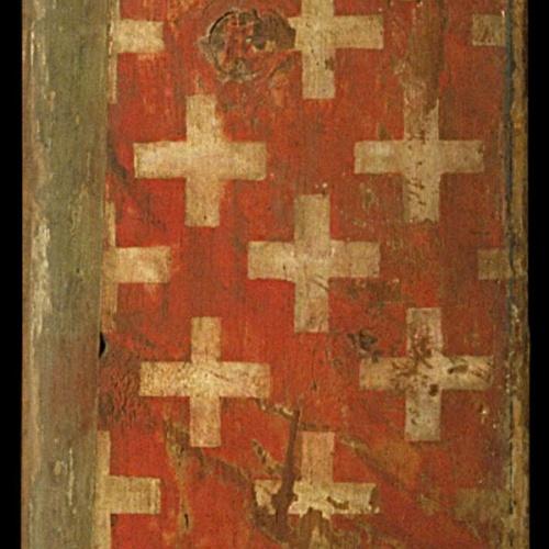 Anònim. Catalunya - Taula d'enteixinat amb les armes dels Cardona i les dels Cruïlles - Primer quart del segle XIV