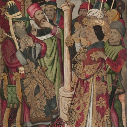 Jaume Huguet - Sant Vicenç davant Dacià - Cap a 1455-1460