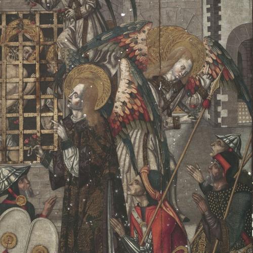 Anònim. Catalunya - Sant Vicenç i sant Valeri a la presó - Entre 1500-1510