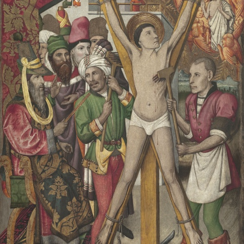 Jaume Huguet - Sant Vicenç a l'eculi - Cap a 1455-1460
