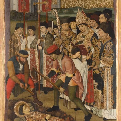 Grup Vergós - Invenció del cos de sant Esteve - Cap a 1495-1500